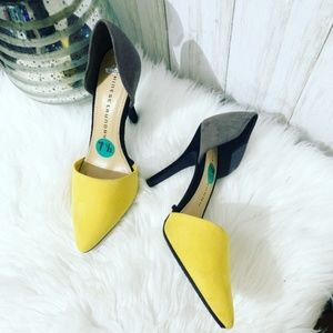 Chinese Laundry Two-Toned Yellow D'Orsay Stiletto